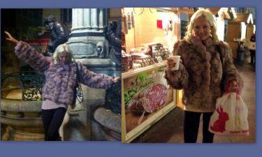 Η Αλεξανδράτου με γούνα υπερπαραγωγή στην Βιέννη! (φωτό)