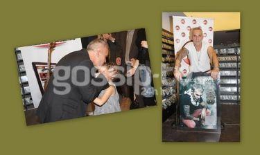 Στέλιος Ρόκκος: Στην απονομή του δίσκου του με την κόρη του