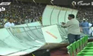 Πήρε ο αέρας τον πάγκο σε αγώνα στη Σαουδική Αραβία! (video)