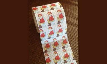 Ο Άγιος Βασίλης τώρα και σε χαρτί τουαλέτας! Ποια γνωστή παρουσιάστρια το χρησιμοποιεί;