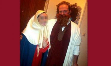 Ελληνίδα παρουσιάστρια ντύθηκε Παναγία