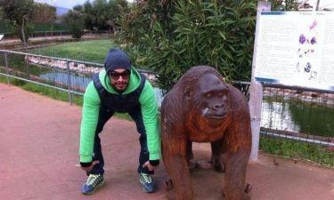 Όταν ο Νίκος Αναδιώτης επισκέφτηκε το Αττικό ζωολογικό πάρκο!