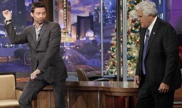 Ο Hugh Jackman μαθαίνει το Gangnam Style στον Jay Leno