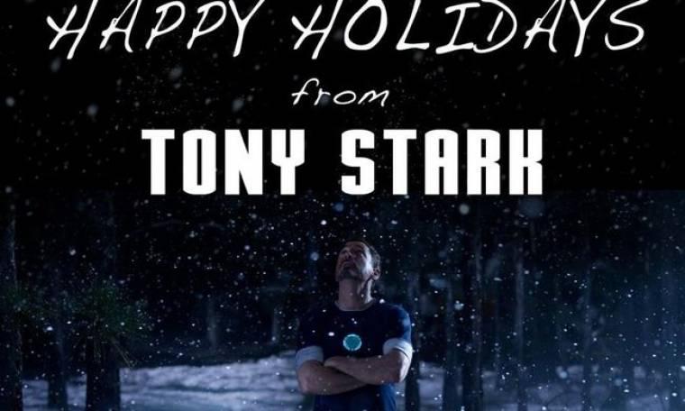 Ο... Tony Stark μας εύχεται Χρόνια Πολλά