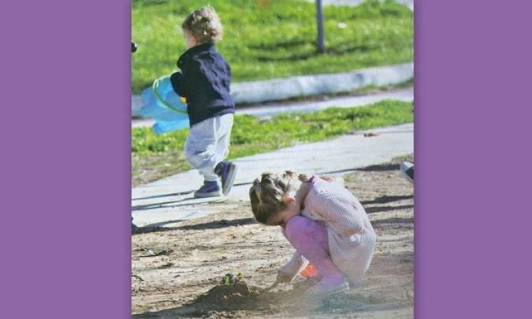 Αναστασία και Αλέξανδρος Ρουβάς: Στην παιδική χαρά