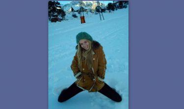 Η Αντωνία Καλλιμούκου στα χιόνια!