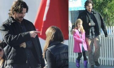 Christian Bale: Ένας στοργικός μπαμπάς, αν και τραυματισμένος!