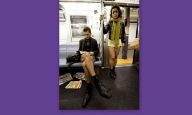 Γυμνοί στο μετρό: η Νέα Υόρκη πάει στη δουλειά με... το βρακί (video)