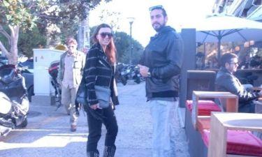 Ελίνα Καντζά: Με τον σύντροφό της για καφέ!