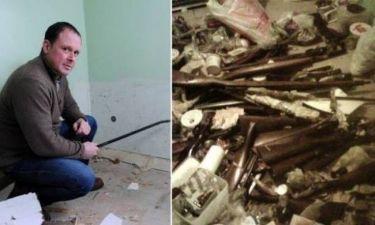 Απίστευτο: Δείτε τι ανακάλυψε όταν γκρέμισε έναν τοίχο (pics)