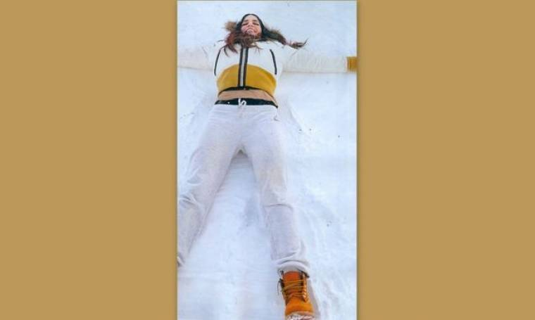Κατερίνα Στικούδη: Ξαπλώνει στα… χιόνια!