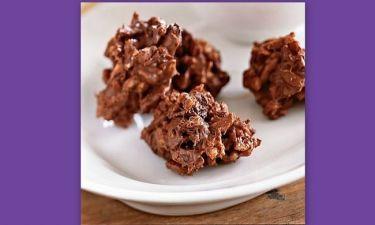 Σοκολατένιες μπουκίτσες με δημητριακά και μια γλυκιά έκπληξη