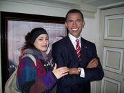 Πρωταγωνίστρια της σειράς «Κλεμμένα όνειρα» φωτογραφίζεται με τον Ομπάμα!