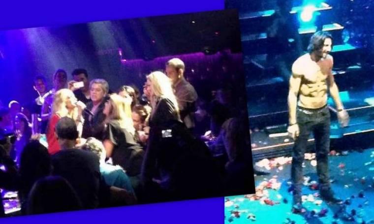 Άννα Βίσση: Η τελευταία βραδιά εμφανίσεων, ο ημίγυμνος άντρας και οι κοιλιακοί! (φωτό)