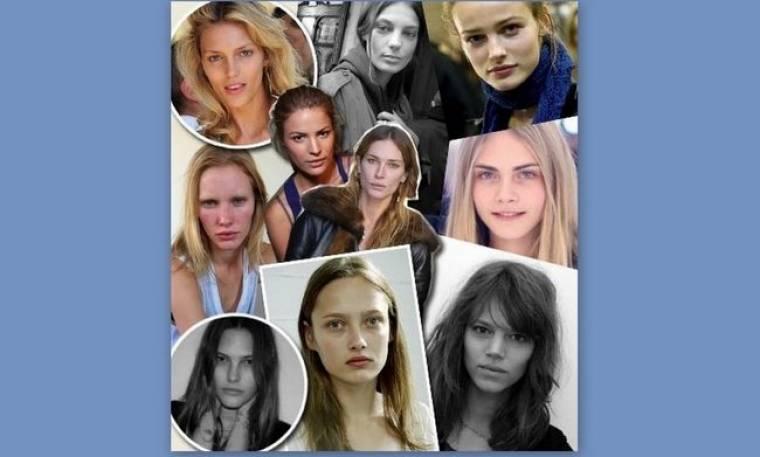 10 μοντέλα δίχως ίχνος μακιγιάζ