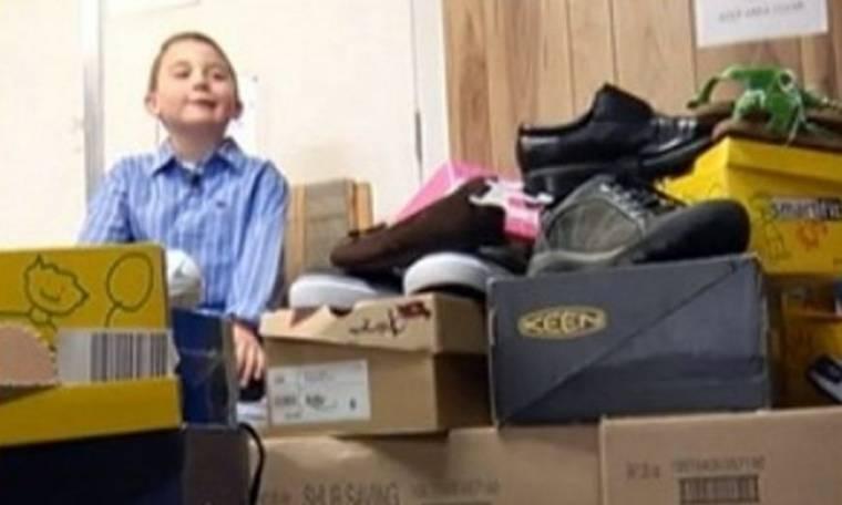 Για τα γενέθλιά του ζήτησε παπούτσια για όλο τον κόσμο!
