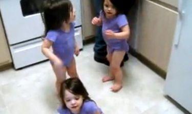 Βίντεο: Άφησαν τις τρίδυμες κόρες τους ελεύθερες και εκείνες ξεσάλωσαν!