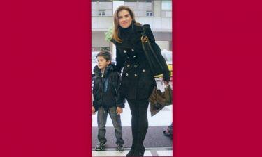 Ευγενία Μανωλίδου: Στο θέατρο με τον γιο της Περσέα