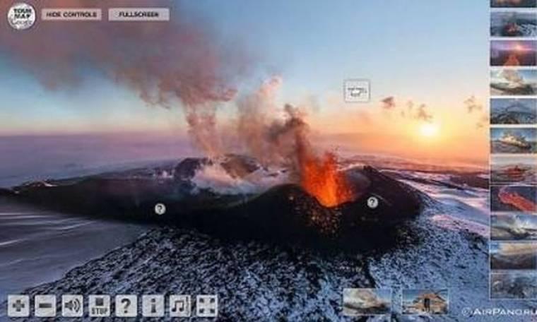Εντυπωσιακό: «Πετάξτε» με ένα κλικ πάνω από ένα ηφαίστειο!