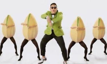 Ο Psy χορεύει «Gangnam Style» με φιστίκια