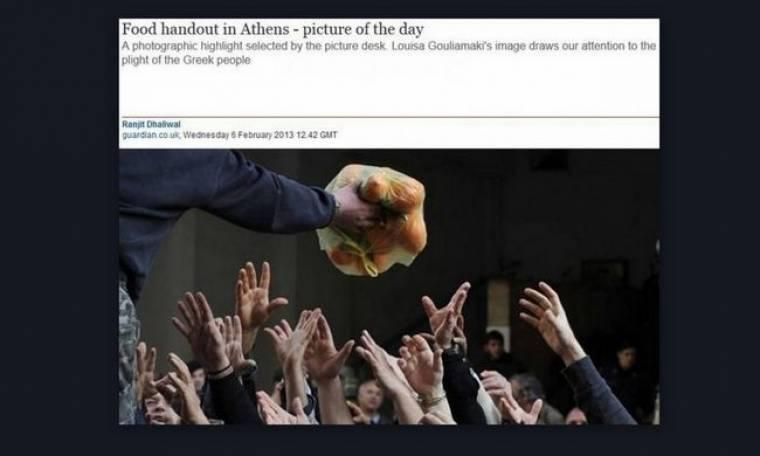 Φωτογραφία της ημέρας έγινε στον Guardian η ελληνική πείνα!