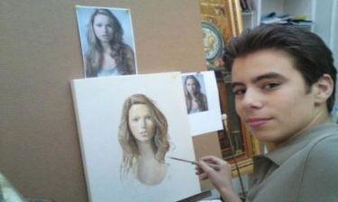 Ο γιος της Ευγενίας Μανωλίδου ετοιμάζεται για την πρώτη του έκθεση ζωγραφικής