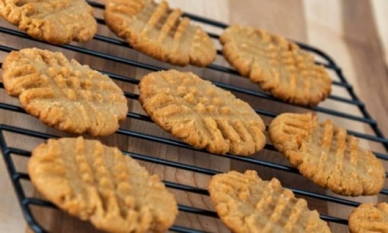 Τέλεια μπισκότα φυστικοβούτυρου!