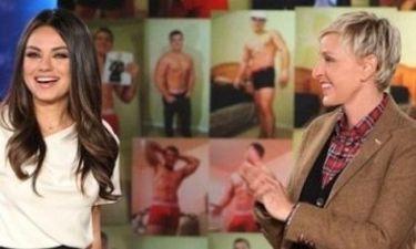 Η Ellen DeGeneres κάνει την Mila Kunis να ντραπεί μπροστά στις κάμερες