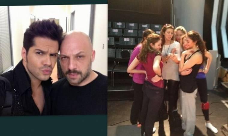 Φωτογραφίες από τα backstage του τελικού του «Dancing with the stars»