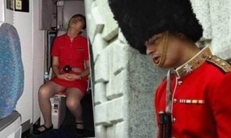 Δείτε τις πιο ξεκαρδιστικές φωτογραφίες... κοιμισμένων εν ώρα εργασίας!