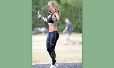 Αναστάτωσε με τις γυμναστικές επιδείξεις της