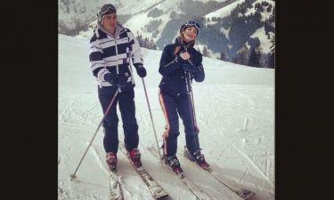 Ώρα για σκι για την Εριέττα Κούρκουλου και τον αγαπημένο της