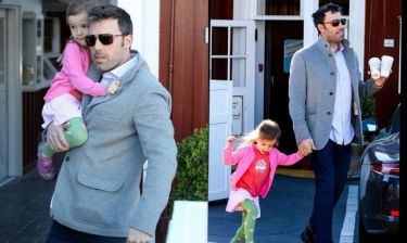 Ben Affleck: Πρωινή βόλτα με την μικρή του κόρη (φωτό)