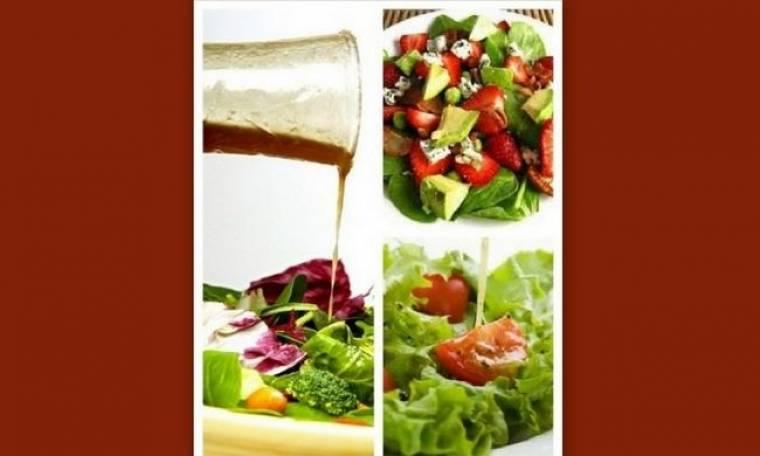 Επιχείρηση αδυνάτισμα: 5 γευστικά light dressings για τις σαλάτες σας