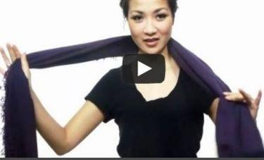 Δείτε το πανέξυπνο video: 25 (!) τρόποι για να φορέσετε το αγαπημένο σας φουλάρι