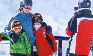 Αλεξία και Κάρλος Μοράλες: Για σκι με τα παιδιά τους