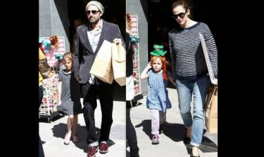 Ben Affleck-Jennifer Garner: Για ψώνια με τις κόρες τους (φωτό)