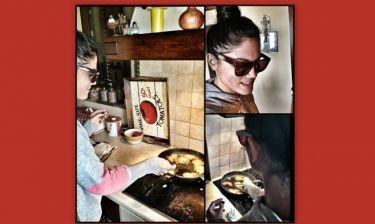 Η Συνατσάκη μαγειρεύει μπακαλιάρο φορώντας γυαλιά ηλίου!