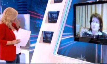 Αγγελική Νικολούλη: Ξέσπασε σε κλάματα κατά τη διάρκεια της εκπομπής της!