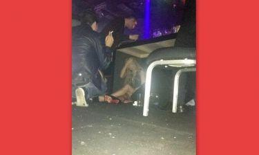 """Πασίγνωστη ηθοποιός """"τύφλα"""" στο μεθύσι χώθηκε κάτω από το τραπέζι σε club! (φωτό)"""