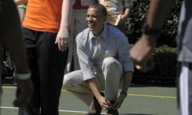 Καμία... σχέση με το μπάσκετ ο Ομπάμα! (video)