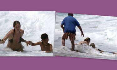 Συγκλονιστικές εικόνες: Πήγαν να πνιγούν ο γιος και οι δυο νταντάδες της Heidi Klum!