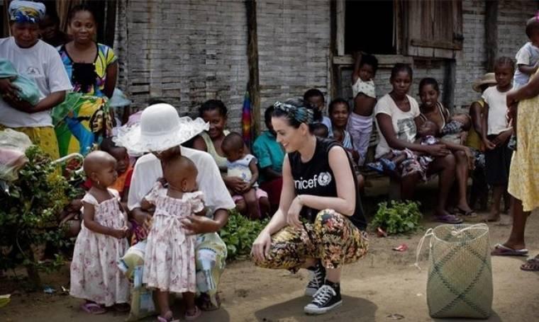 Η Katy Perry στο πλευρό της Unicef