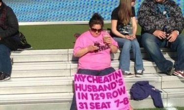Εκδικήθηκε τον άπιστο άντρα της με πανό!