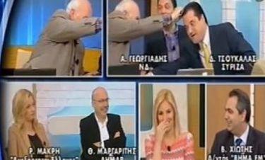 Ο Παπαδάκης τσεκάρει τα μαλλιά του Γεωργιάδη αν είναι βαμμένα!