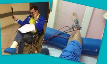 Γιώργος Καπουτζίδης: Μετά το ατύχημα, κάνει φυσικοθεραπείες