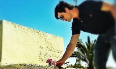 Σάκης Ρουβάς: Επισκέφτηκε τον τάφο του Καζαντζάκη