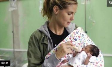 Η Heidi Klum στην Αϊτή για να υποστηρίξει την Unicef