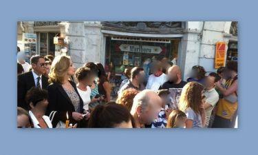 Η Άντζελα Γκερέκου στην περιφορά του Επιταφίου στην Κέρκυρα