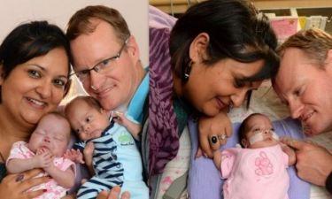 Δύο από τα τρίδυμα γεννήθηκαν 8 μέρες αφότου είχε έρθει στον κόσμο το πρώτο!